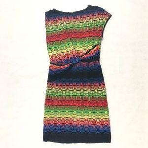 99c07196dfd M Missoni Multi Color Knit Knotted Dress Size 8 US